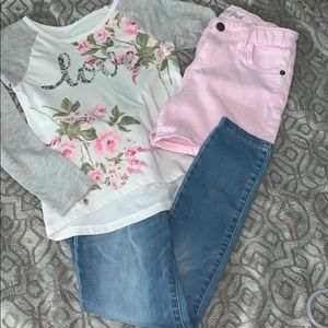 Other - Girls Lot!!  Shirt, Shorts and Jeans